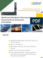 Geothermal handbook