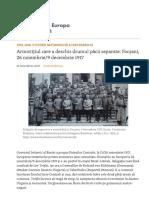 Armistițiul Care a Deschis Drumul Păcii Separate_ Focșani, 26 Noiembrie_9 Decembrie 1917
