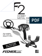 manual for metal detector fisher f2