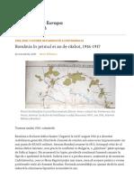 România În Primul Ei an de Război, 1916-1917