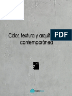 Color Textura y Arquitectura Contemporanea