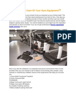 Why Take Care of Your Gym Equipment