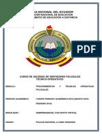 Modulo de Procedimiento y Tecnicas Operativas Policiales.