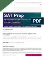 SAT Online [Courses, Coaching, Tutors, Test Series]   TestprepKart