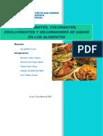 Conservantes, Colorantes, Edulcorantes y Mejoradores de Sabor en Los Alimentos