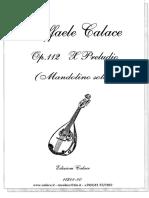 Raffaele Calace - Op. 112. 10° Preludio (mandolino solo)