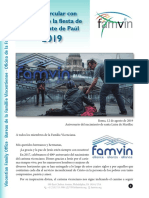 Superior General para la Familia Vicenciana - fiesta SVP 2019