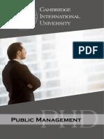 Public Management Phd