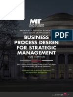 Mit Business Process Design for Strategic Management Online Short Program Brochure