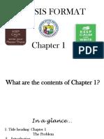 BSU Seminar Chapter 1