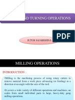 Milling and turning operations