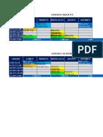 HORARIO CLASES +LABURO→ 2° SEMESTRE 2018
