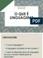 o Que é Linguagem