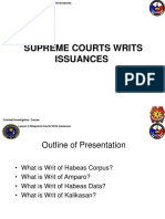 Writ Issuances
