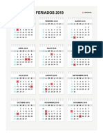 2019 Calendario y Dias Festivos