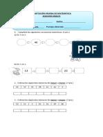 Prueba de Matemática Mayo 2do
