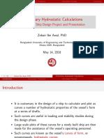 Lecture - Preliminary Hydrostatics - Handout