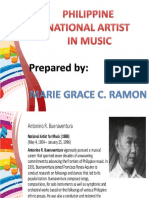 3 National Artists in Music, Film and Broadcast