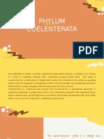 Exercise 3 Phylum Coelenterata