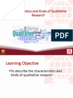 4 Characteristics and Kinds of Qualitative Research