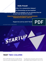 16x9 Startup Free design for ppt
