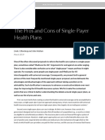 Pros and Cons of a Single-payer Plan