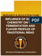 Influencia de agua en la fermentación