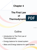 Chapter 4- First Law of Thermodynamics