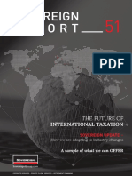 The future of international taxation