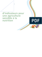 Indicateur pour une agriculture sensible a la nutrition
