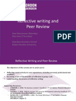 EN1600 Reflective Writing and Peer Review Oct 2013
