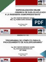 CURSO DE SISMOLOGIA Y DINAMICA DE SUELOS