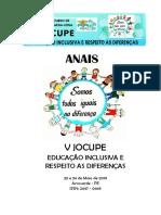 Anais_V Jornada do Curso de Pedagogia da AESA - JOCUPE 2019
