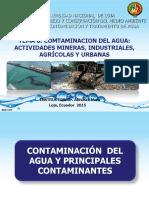 Contaminación del agua y principales contaminantes