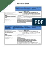 KARTU SOAL Mengelola Sistem Kearsipan Klas X 15-16