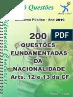 1724_DA NACIONALIDADE- Arts. 12 e 13 Da CF - Apostila Amostra