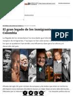 el gran legado de los inmigrantes en colombia