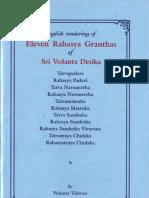 Eleven Rahasya Granthas of Sri Vedanta Desika Dr NS Anantha Rangachar 2009 OCR