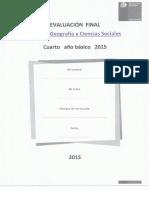 Prueba Final Historia 4° eb 2015