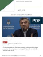 Os Sete Erros de Mauricio Macri - 13-08-2019 - UOL Notícias