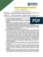 Contenido Primer Parcial Derecho Procesal de Trabajo i
