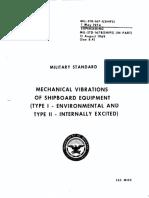 MIL-STD-167-1 Mechanical Vibrations of Shipboard Equipment