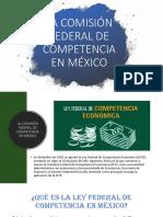 La Comisión Federal de Competencia en México