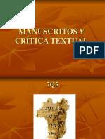 Manuscritos y Crítica Textual