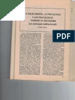 Sobrado, E. La salud mental, la psicología y los psicólogos durante la dictadura