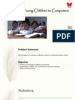 Young children education plan