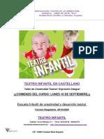 TEATRO DE LA SENSACIÓN-Taller Infantil de 5 a 8 Años de Expresion Dramatica 2010-020 Con Ficha de Inscripción