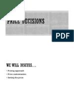 Price Decisions