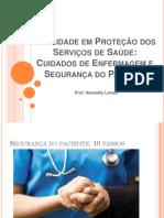 Saúde em proteção dos serviços de saúde segurança do paciente