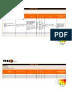 Gestion de Riesgos e PM4R Matriz de Riesgos Ejemplos